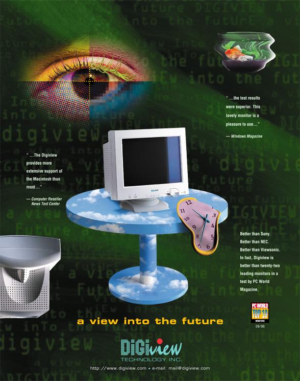 Futuristic Monitor ad