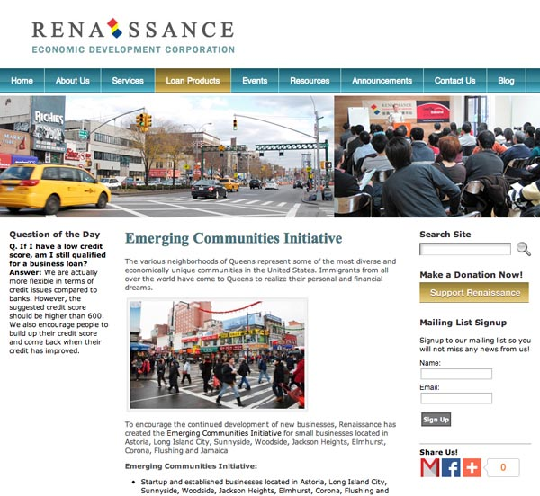 redc website home page