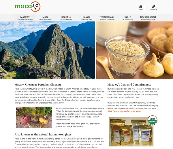 macajoy homepage